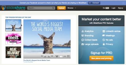 Homepage Slideshare 700 pix