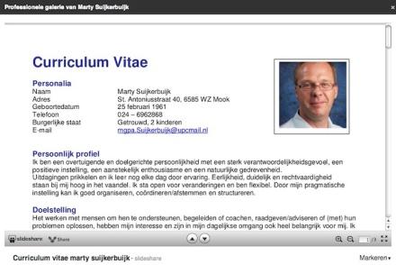 Slideshare-CV Marty Suijkerbuijk