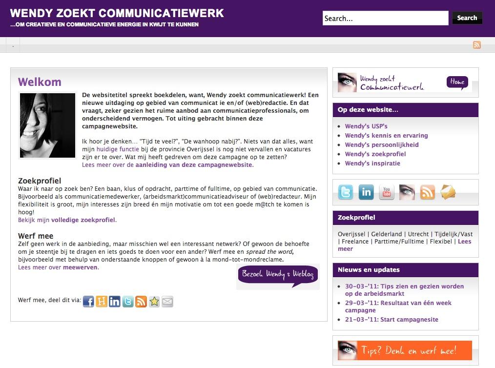 voorbeeld sollicitatiebrief communicatiemedewerker Bijzondere cv's ter inspiratie – deel 4: je eigen website  voorbeeld sollicitatiebrief communicatiemedewerker