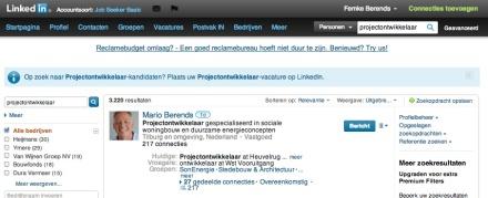 Lijst met LinkedIn-profielen